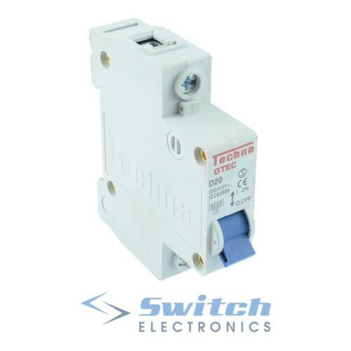 C or D 6A to 63A Single Pole Miniature Mini Circuit Breaker Type B