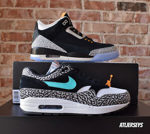 715e4c4b6e Air Jordan 3 X Air Max 1 Pack Atmos Elephant Safari Retro OG 923098 ...