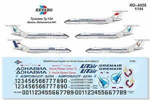 for Zvezda decal edition VII 1//144 Revaro Decal Tupolev Tu-134