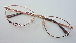 Damen-accessoires Warnen Gormanns Goldene Damenbrille Metall 53-17 Vintage Schlicht Unauffällig Size M Gute WäRmeerhaltung Beauty & Gesundheit