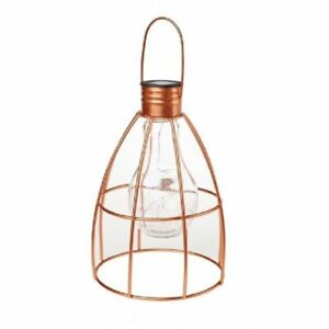 caged lighting. Image Is Loading Copper-Caged-Light-bulb-Solar-Powered-Garden-Lantern- Caged Lighting