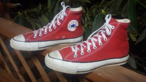 Vintage 90's Converse Made in USA Hi-Top Red All☆S