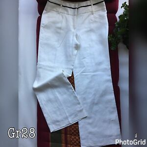 in stock sale retailer fashionable and attractive package Details about Next Petite White Womens Ladies Linen Trousers UK10 Wide Fit  W30 L29