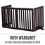 thumbnail 11 - Pet Gate Step Over Dog Gate Freestanding Assembly-Free Puppy Foldable Fence New