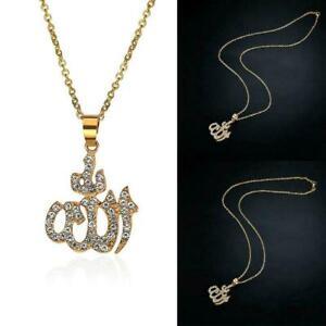 Arabic-Muslim-Women-18K-Gold-Plated-Islamic-God-Allah-Jewelry-Pendant-Neckl-P6E8