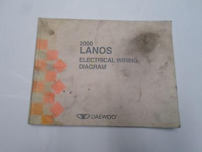 2000 Daewoo Lanos Electrical Wiring Diagram Manual Water Damaged Stained Oem 00 Ebay