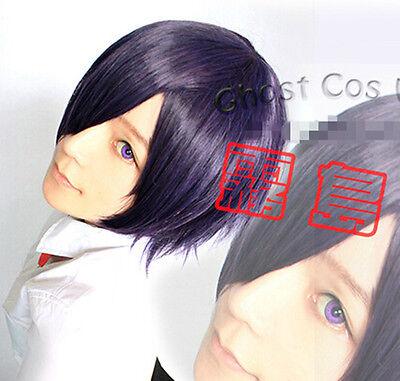 Tokyo Ghoul Kirishima Touka Cosplay Perücke wig Lila Purple Kurz short