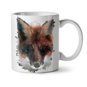 Wild Fox Face Cute Animal NEW White Tea Coffee Mug 11 oz   Wellcoda