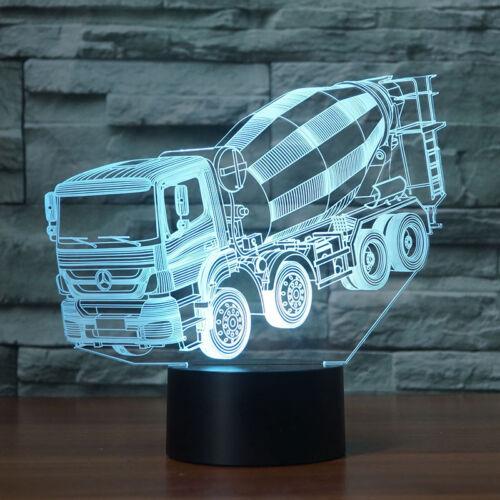 3D Scania Heavy Truck LKW LED Nachtlicht Leselampe Weihnachten Geschenk 7 Farbe