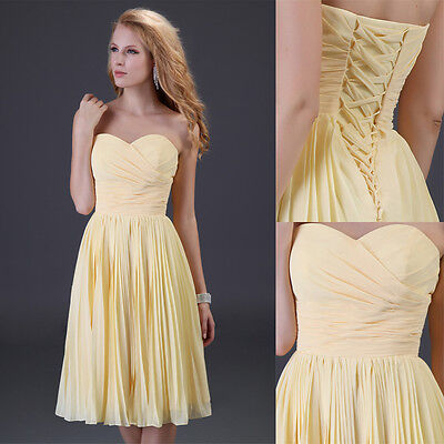MINI Evening Cocktail Bridesmaid Party Prom Dress Short Chiffon Graduation Dress