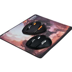 Control-Inalambrico-2-4GHZ-Mouse-para-Juegos-800-1200-1600-DPI-Ajustable-Y-Mouse-Pad