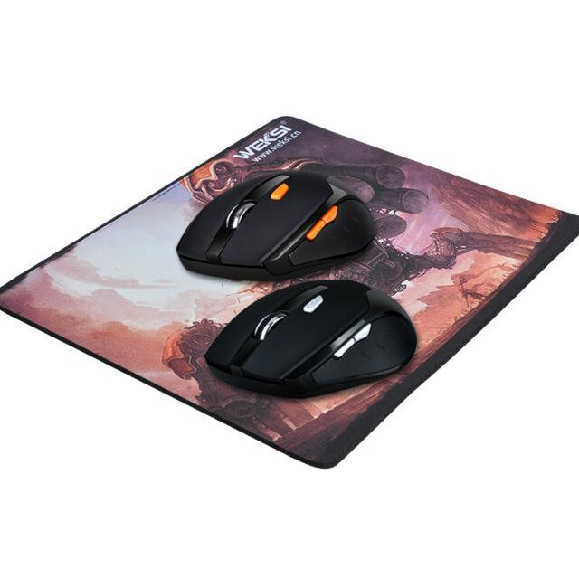 Control Inalámbrico 2.4GHZ Mouse para Juegos 800/1200/1600 DPI Ajustable Y Mouse Pad