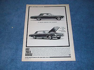1963 Dodge Polara 500 426 Ram Caricabatterie Vintage Ad The Dependables Are Here Prezzo Di Vendita