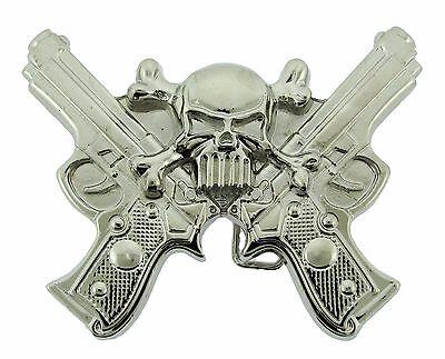 New Mens Star Belt Buckle Skulls Tribal Gothic Tattoo Goth Metal Fashion Silver