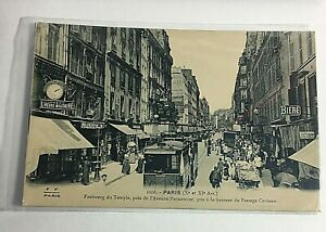 Vintage Postcard RPPC Foreign Early 1900s Paris People on Street P3