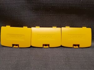 3x Yellow 3rd Party Gamboy Color Battery Covers