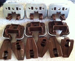 6 Sets New Kenlin Rite-trak Dresser Drawer Guide Glide W/ Metal Bracket & Stop Attrayant Et Durable