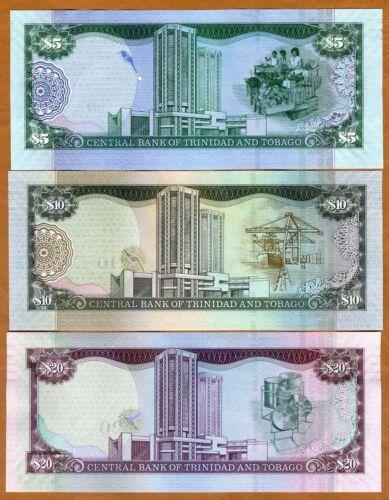 P-New 2006 New Sig SET Trinidad and Tobago 5;10;20 dollars 2017 UNC
