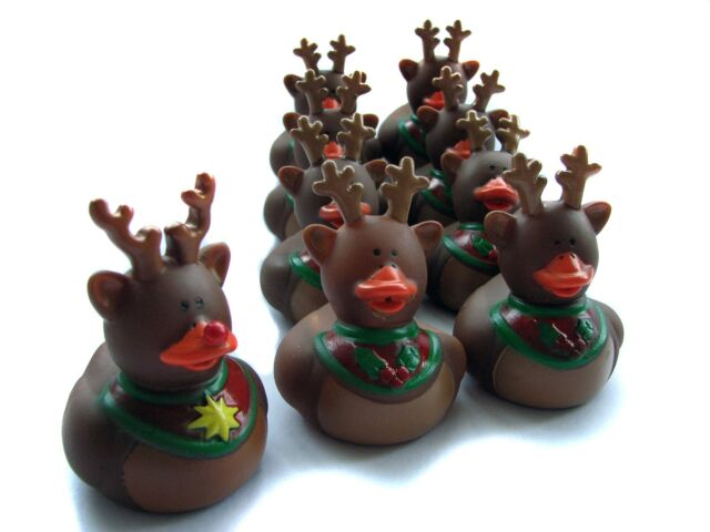 9 Reindeer Rubber Ducks - Rudolf and his eight reindeer chums