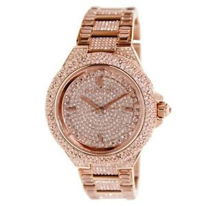 ladies gold fossil watches plated riley rose watch multifunction