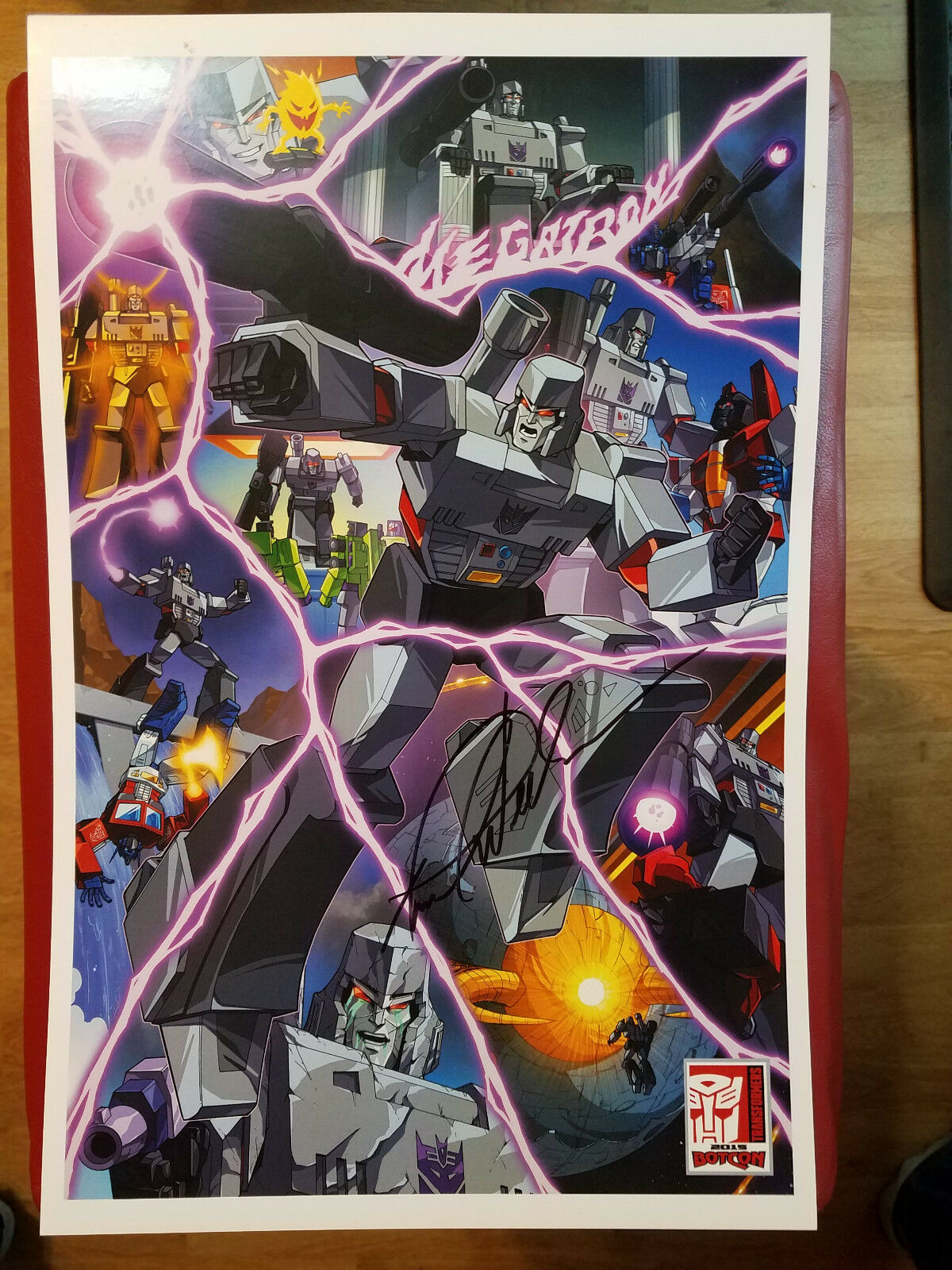 2015 Transformers BotCon G1 Megatron SIGNED by Frank Welker 17x11 Print