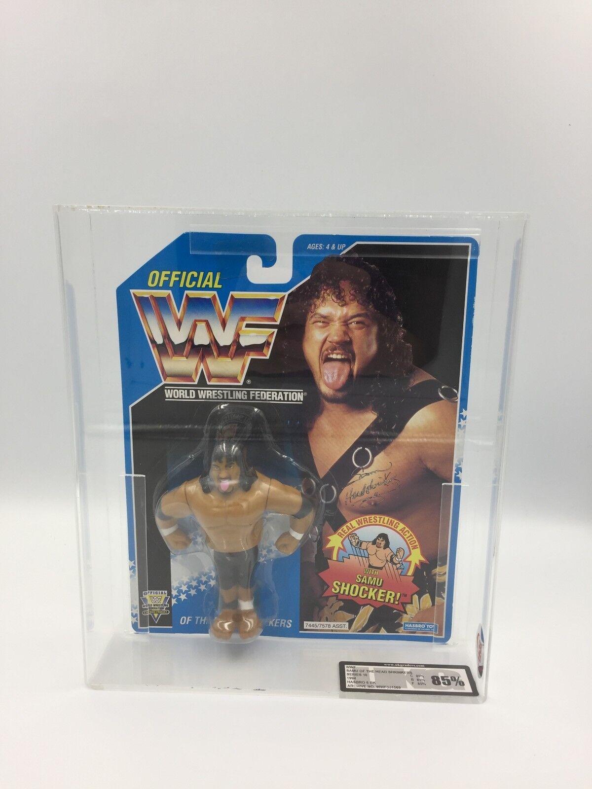 minorista de fitness WWF Hasbro Hasbro Hasbro SAMU del Headshrinkers serie 10 1994 CochedadaG 85% no Afa  suministramos lo mejor