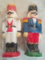 (set Of 2) Toy Soldiers 9 Candle Vtg Holiday Decoration Carolina Designs