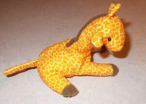 """Ty TEENIE 3"""" Beanie Babies 1998 # 3 Twigs Giraffe w// Tag Excellent NIP"""