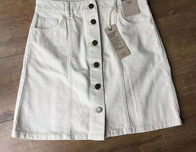 M/&S denim skirt Size 10 New With Tags