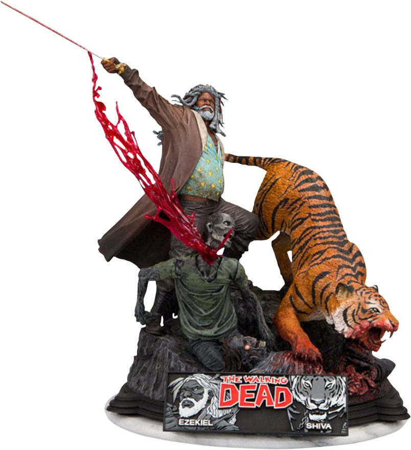 THE THE THE WALKING DEAD - Ezekiel & Shiva 13  Resin Diorama Statue (McFarlane)  NEW 72e605