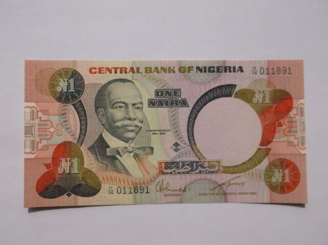 *****(1979-84) Nigeria Central Bank 1 Naira Note*****