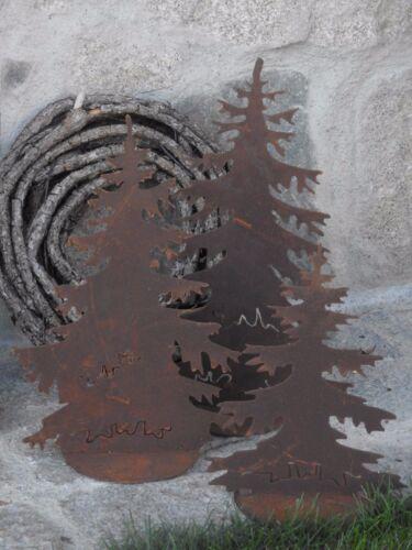 Nobile Ruggine ALBERO abete decorazione da giardino terrazzo Natale Advent personaggio scultura