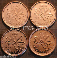 2011 & 2012 BU CANADA 1 CENT MINT STATE (4 COINS)     FREE $HIPPING IN CANADA!