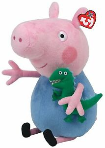 TY-PEPPA-PIG-BUDDY-GEORGE-SOFT-TOY-12-INCHES-30CM-GENUINE-TY-ITEM-UK-SELLER