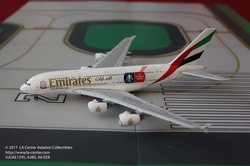 Gemini Jets Emirates Airways Airbus A380 in FA Cup Farbe Diecast Model 1 400