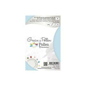 Clairefontaine Grain Pollen Card, B7, 210g - Heaven Blue, Pack 5