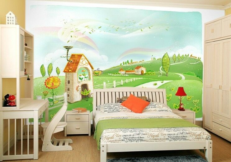 3D Peaceful country 1 Wall Paper Wall Print Decal Wall Deco Indoor wall Murals
