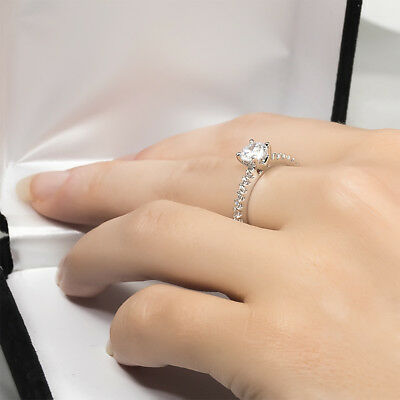 Womens 2.0 CT Round Cut Engagement Anniversary RING White Gold Plated Size 6-9