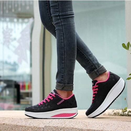 Womens Ladies Fashion Athletic Trainers Sneakers Sports Training Gym Shoes T