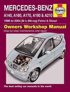 haynes workshop repair manual mercedes a class 98 04 ebay rh ebay com Justy Service Repair Manual Honda Service Repair Manual