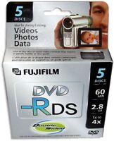 5-pak =fujifilm= Mini Dvd-r =double Sided= 2.8gb 60-min For Sony Camcorders