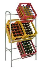 Flaschenkastenständer 6 Kästen Getränkekistenständer Getränkregal Kästenlagerung