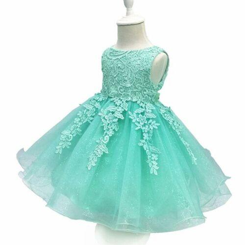 Flower girls baby bow princess dress tutu birthday party show Skirt wedding