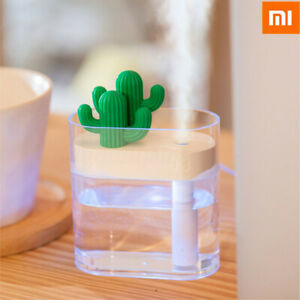 XIAOMI-Clear-Cactus-Ultrasonic-Air-Humidifier-160ML-Color-Light-USB-Air-Purifier