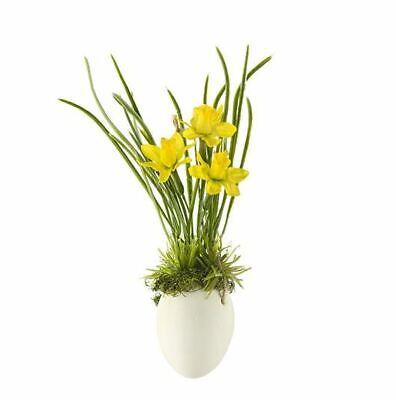 Ostern Gilde Wunderschöner Deko Hänger Narzisse im Ei gelb 25 cm hoch NEU