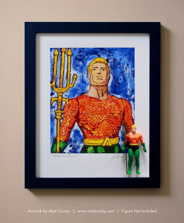 AQUAMAN Vintage Kenner Super Powers PRINT Action Figure ORIGINAL ART PRINT Powers 1984 6b2144