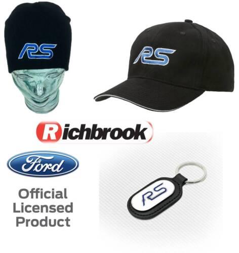 Richbrook Ford RS Logo Baseball Cap Beanie Hat /& Keyring Focus Combo Gift Set