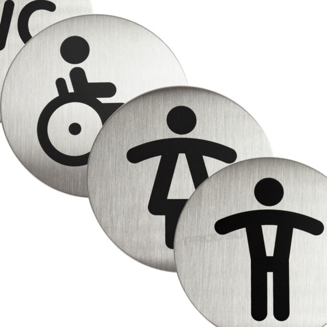 Durable 490323 Stainless Steel Round Pictogram 65/mmDisinfect Your Hands