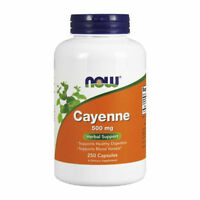 Now Cayenne Capsules, 500mg 250 Capsules - Digestion