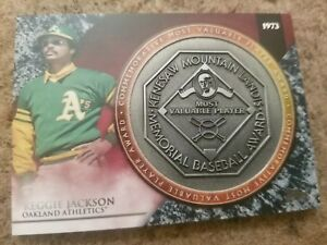 2017-TOPPS-UPDATE-REGGIE-JACKSON-A-L-MVP-AWARD-COMMEMORATIVE-PLATE-RELIC-A-039-S